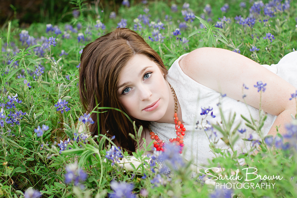 Texas Bluebonnet Senior Photos